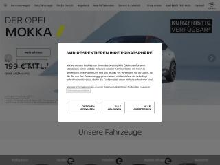 Screenshot der Website opel.de