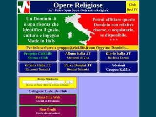 screenshot operereligiose.it