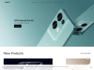 Screenshot for oppo.com