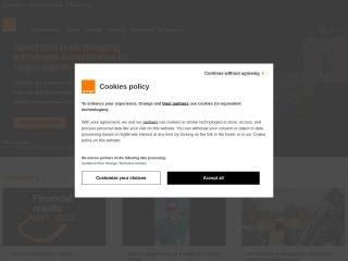 Screenshot for orange.co.uk