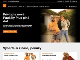 Screenshot stránky orange.sk