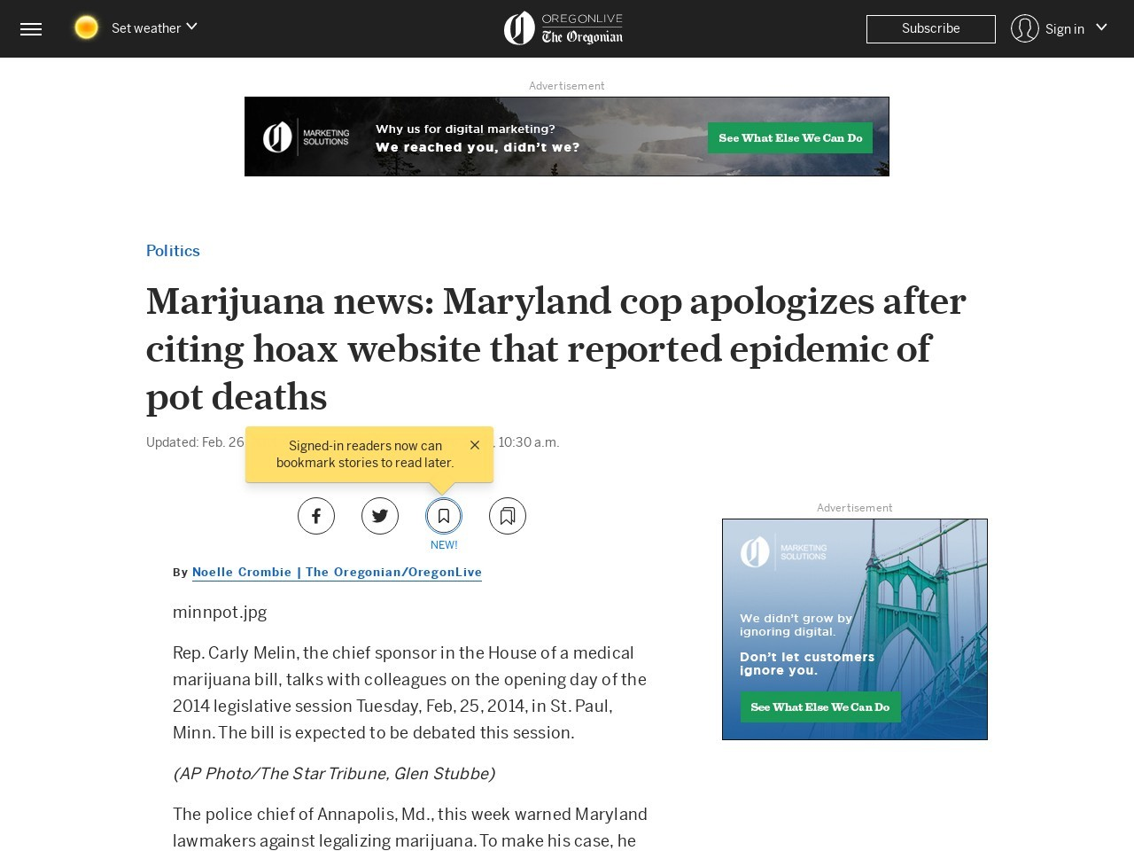 Marijuana news: Maryland cop apologizes after citing hoax website that …