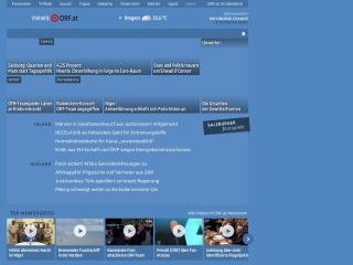 Screenshot der Website orf.at