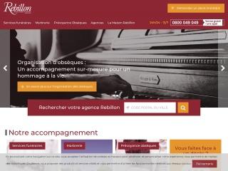 Capture d'écran pour organisation-obseques.fr