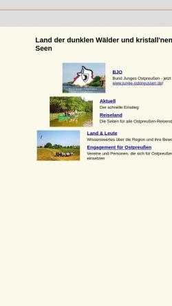 Vorschau der mobilen Webseite www.ostpreussen-info.de, Bund junges Ostpreußen