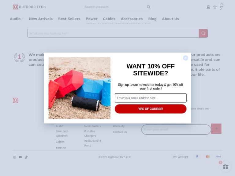 Outdoor Tech screenshot
