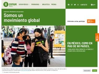 Captura de pantalla para oxfammexico.org