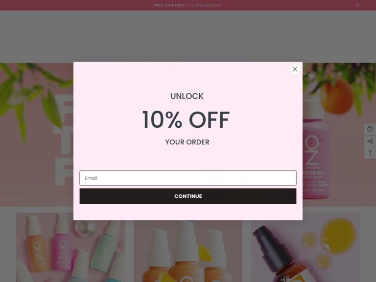 OZ Naturals screenshot