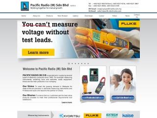 Screenshot bagi pacificradio.com.my