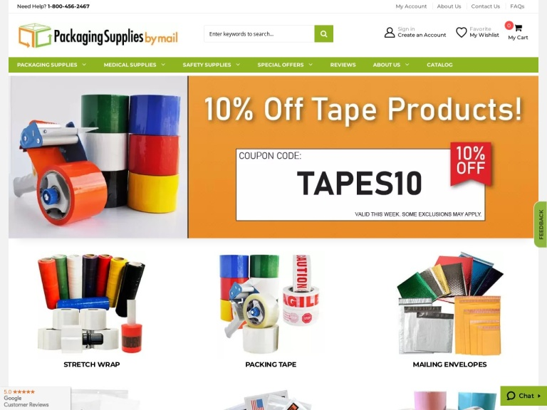 Packaging Material Direct, Inc screenshot