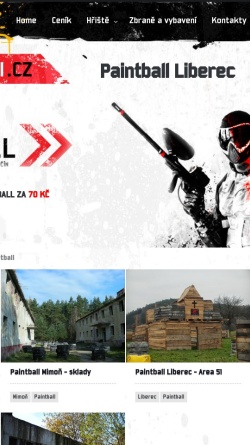 Vorschau der mobilen Webseite www.paintball-strileni.cz, Paintball Liberec