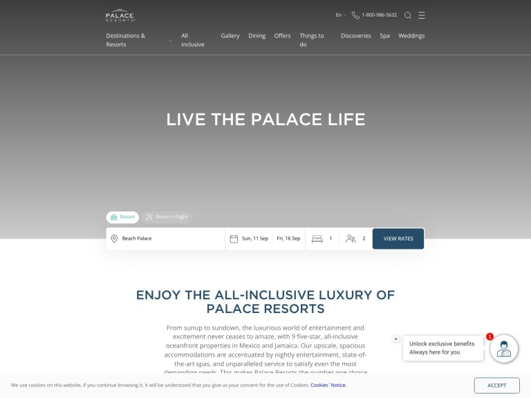 Palace Resorts screenshot