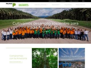 Captura de pantalla para palmas.com.pe