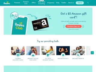 Screenshot for pampers.com
