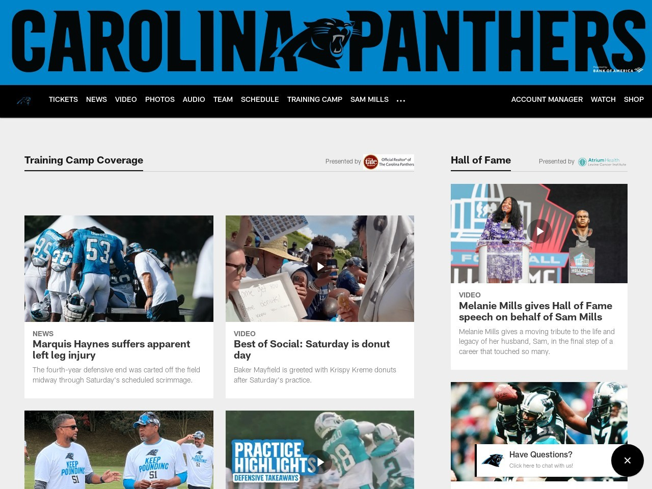 Facts and Figures: Panthers vs. Falcons