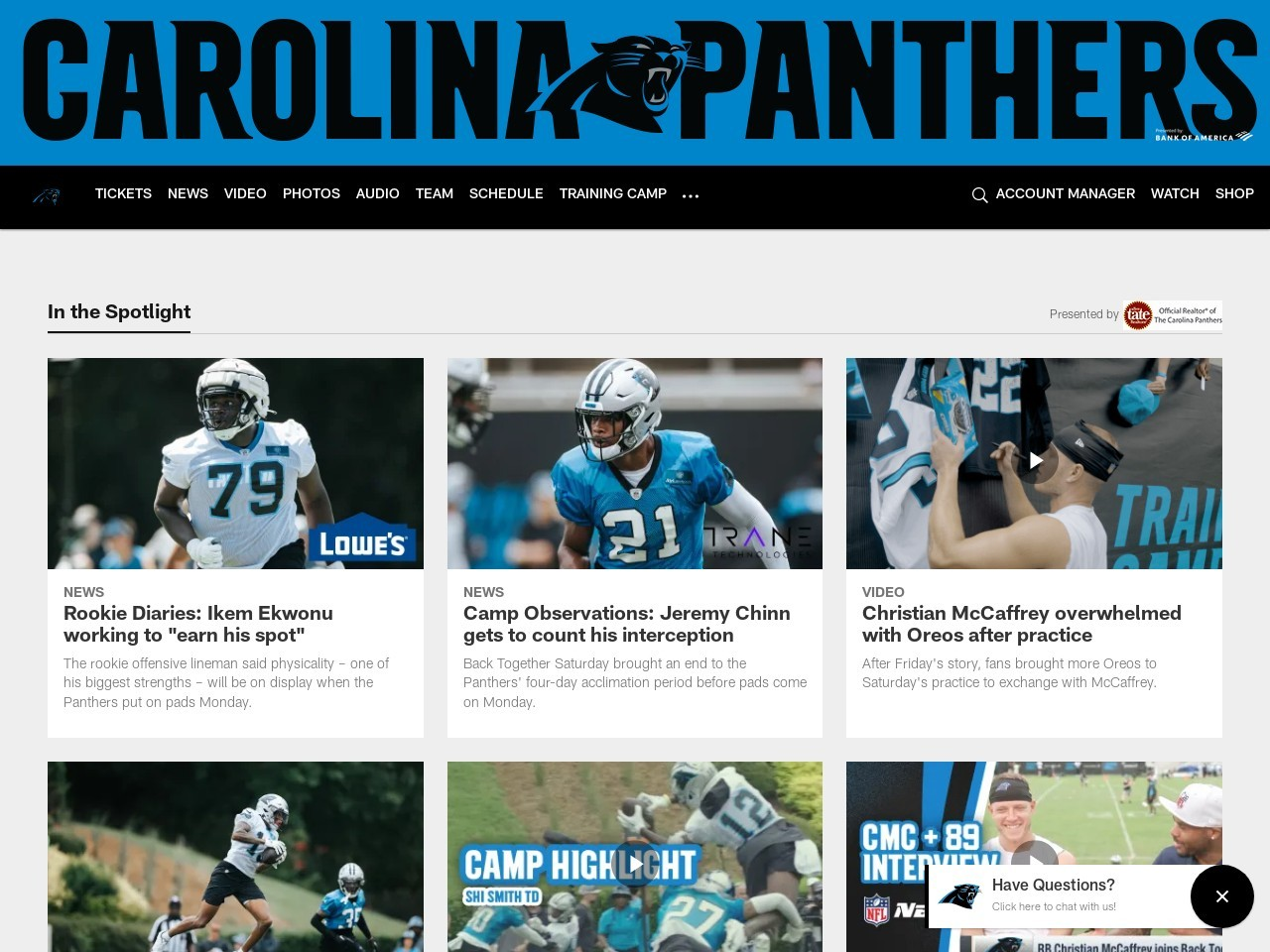 Game Preview: Panthers at Broncos