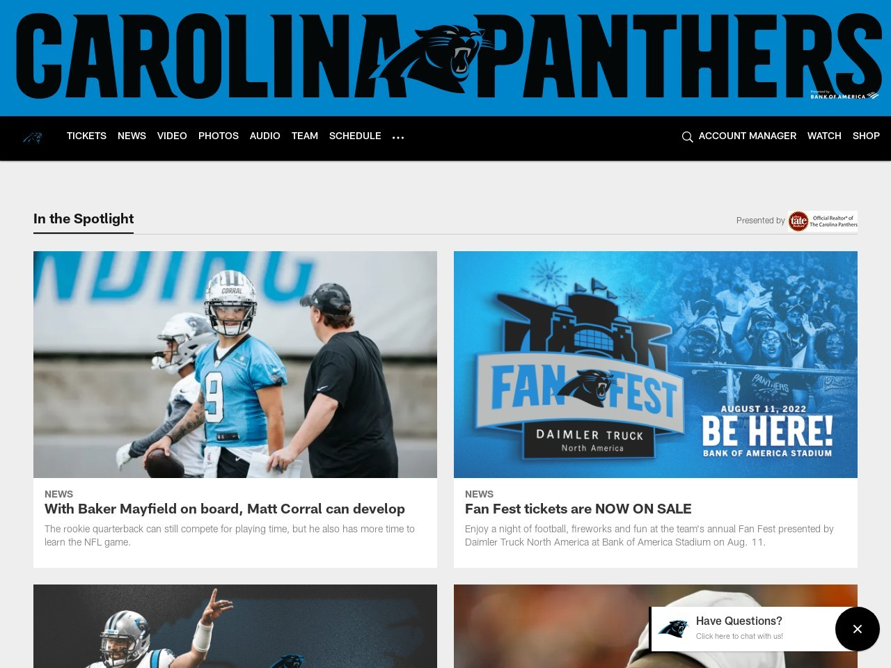 Panthers Training Camp Observations: Day 2