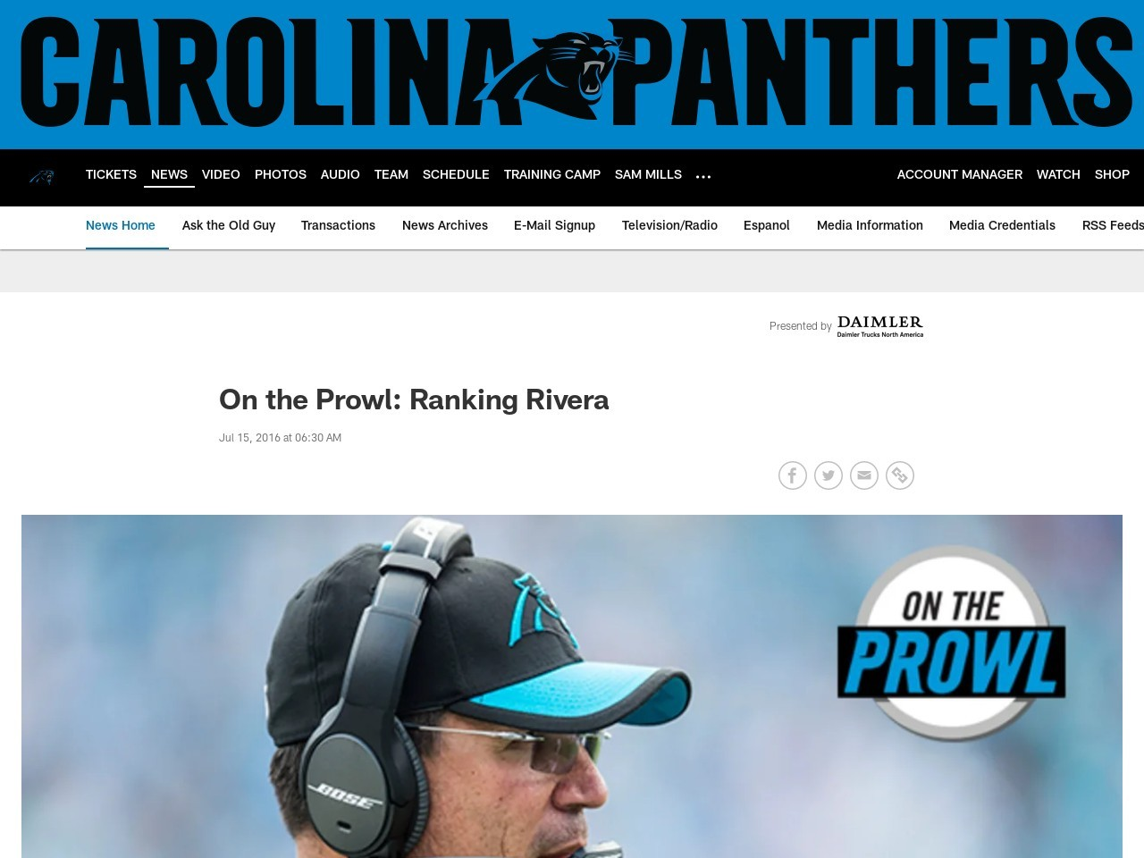 On the Prowl: Ranking Rivera
