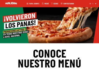 Captura de pantalla para papajohns.com.ve