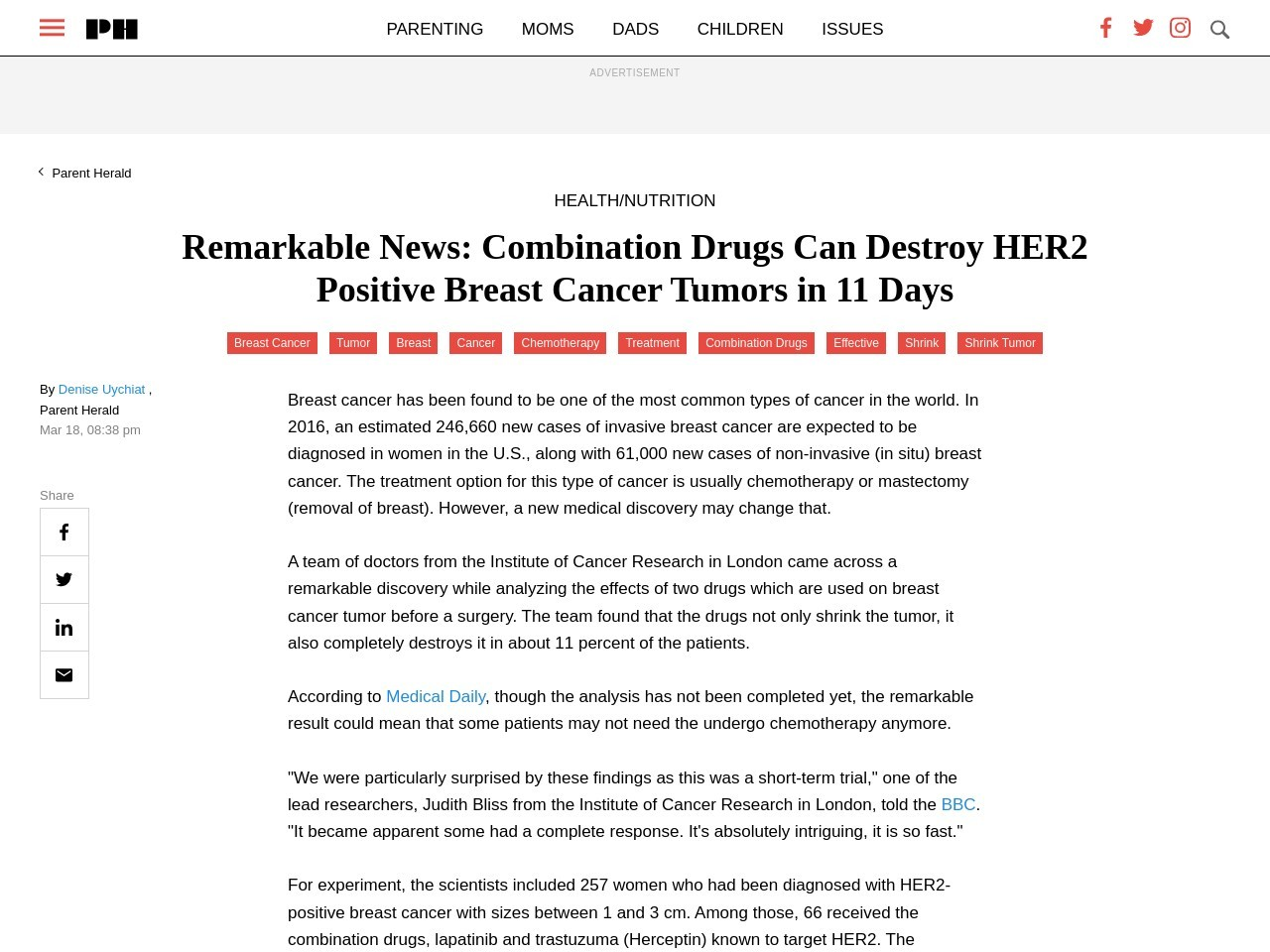 Remarkable News: Combination Drugs Can Destroy HER2 Positive Breast Cancer …