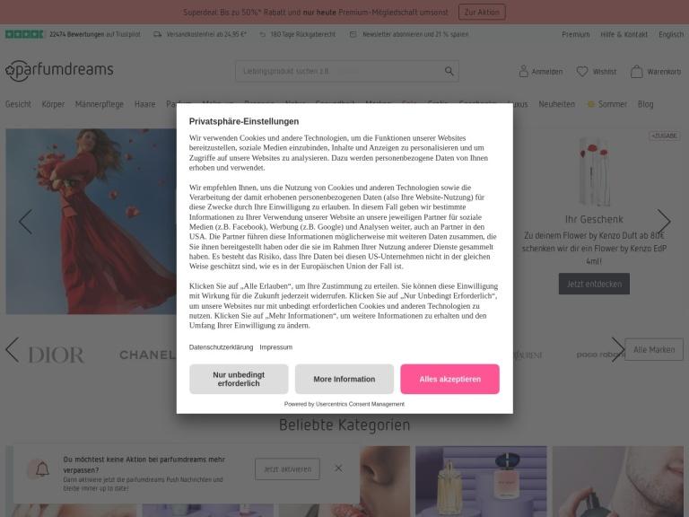 Parfumdreams Global screenshot
