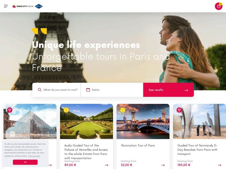 ParisCityVision.com Coupon Codes