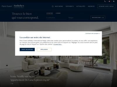 Agence immobilière Paris Ouest Sotheby's International