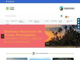 Captura de pantalla para parquesnacionales.gov.co
