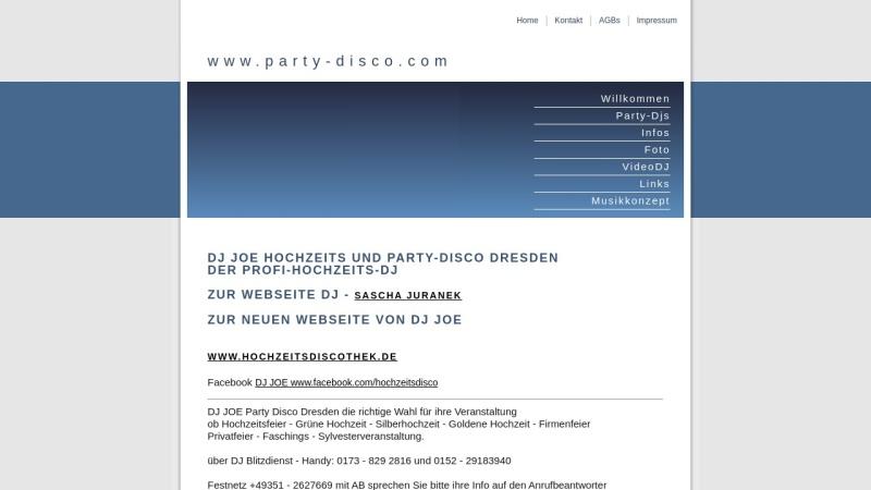 www.party-disco.com Vorschau, Partydisco