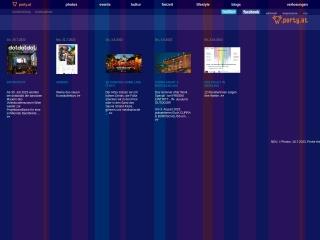 Screenshot der Website party.at