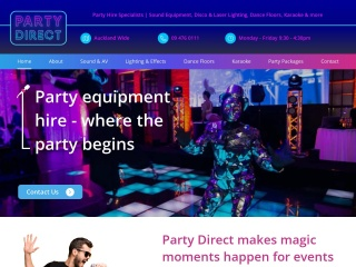 Screenshot for partydirect.co.nz
