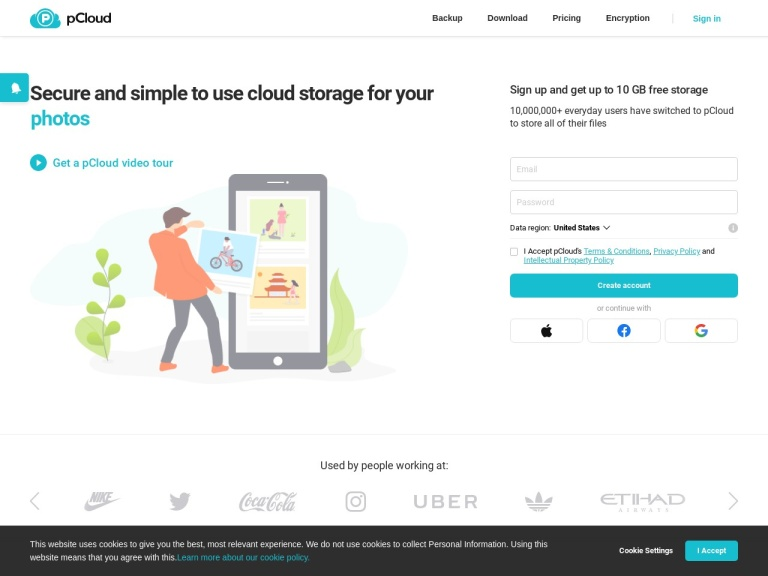 pCloud Ltd screenshot