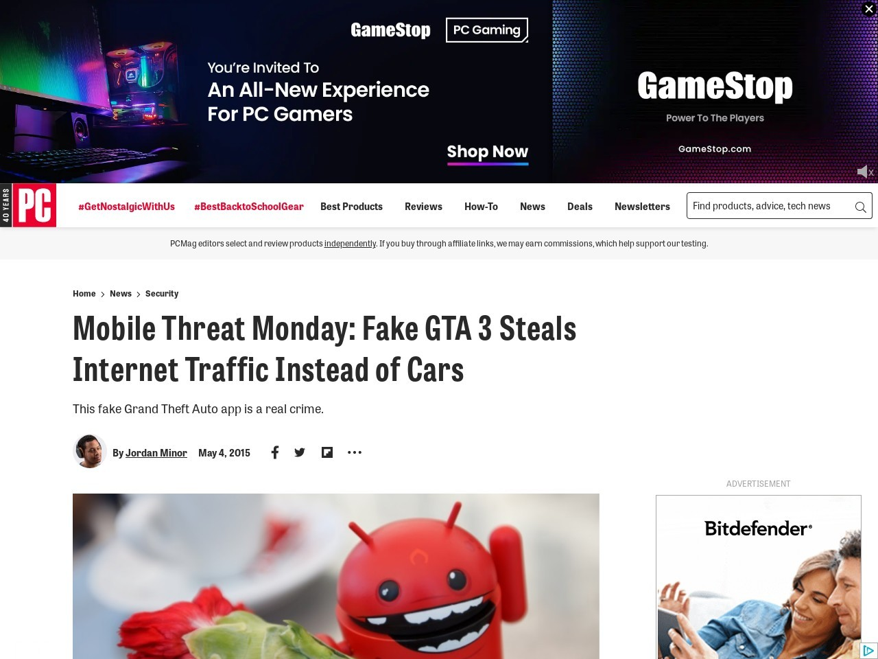 Mobile Threat Monday: Fake GTA 3 Steals Internet Traffic Instead of Cars