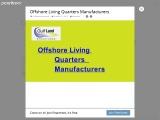 Offshore Oil Rig Living Quarters – Gulflandstructuresllc