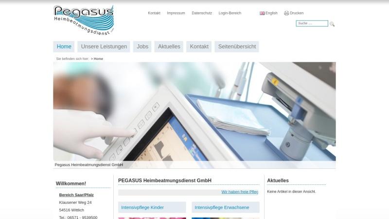www.pegasus-pflege.de Vorschau, Pegasus Heimbeatmungsdienst GmbH