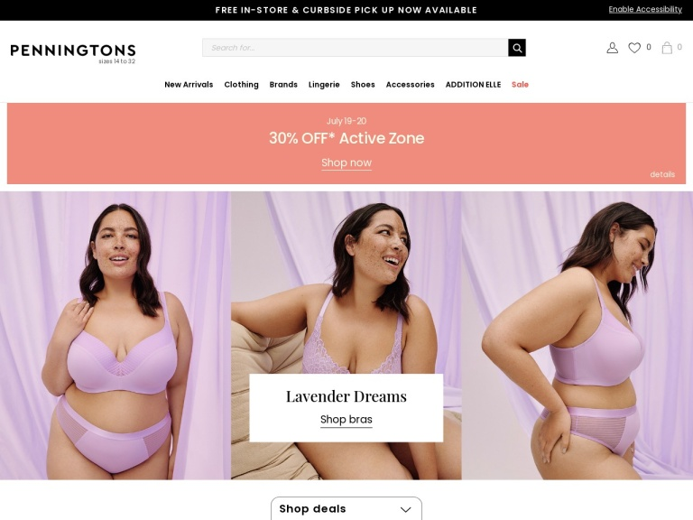 Addition Elle / Penningtons screenshot
