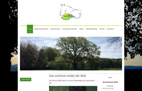 Vorschau von www.penny-well-ranch.de, Penny Well Ranch