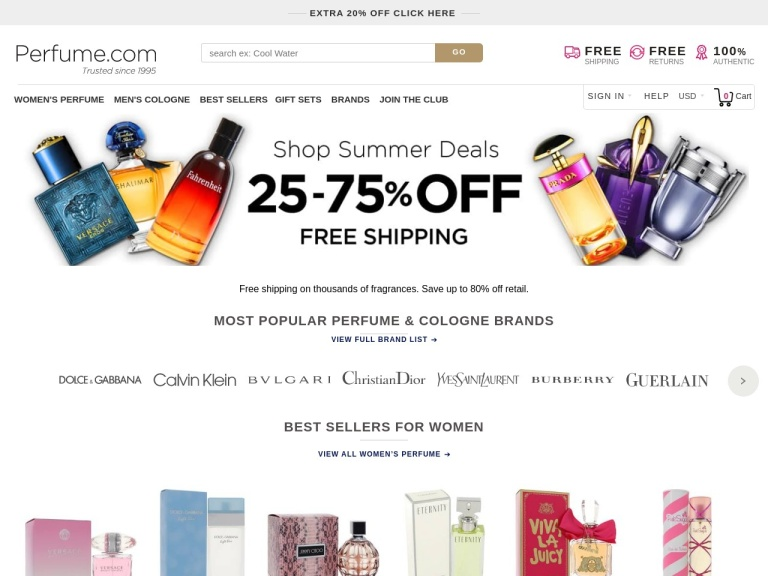 Perfume.com screenshot