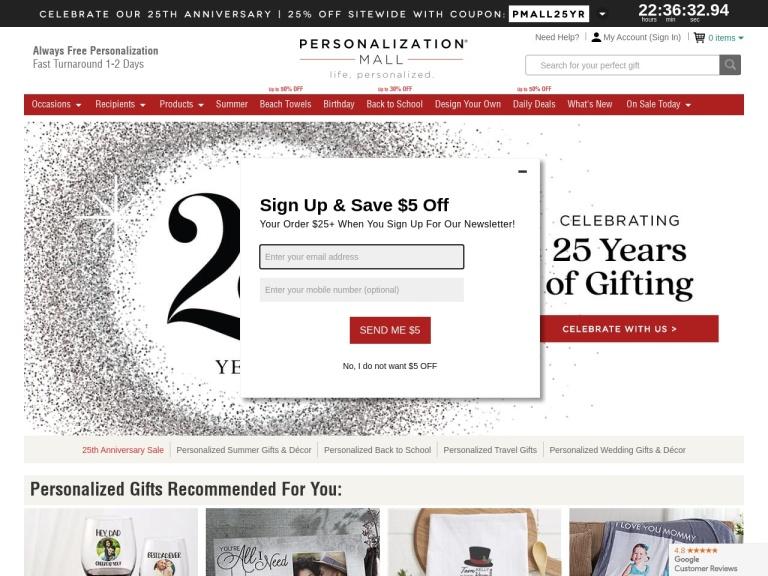 Personalization Mall screenshot
