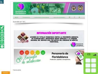Captura de pantalla para personeriadefloridablanca.gov.co