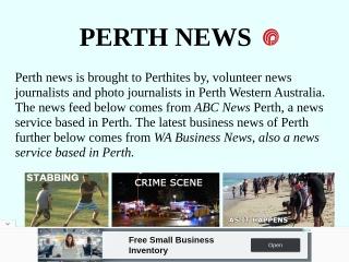 Screenshot for perthnews.info