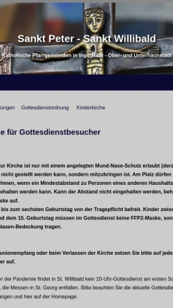 Vorschau der mobilen Webseite www.peter-willibald.de, Pfarrgemeinde St. Peter und St. Willibald