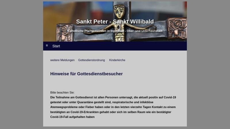 www.peter-willibald.de Vorschau, Pfarrgemeinde St. Peter und St. Willibald