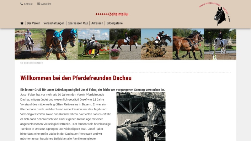 www.pferdefreunde-dachau.de Vorschau, Verein Pferdefreunde Dachau e.V.