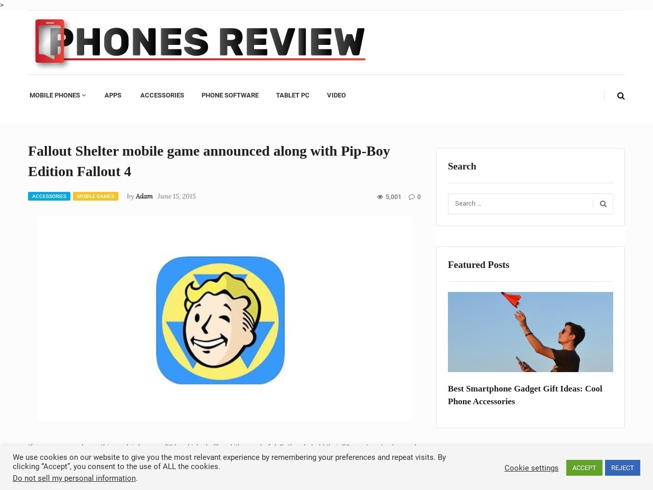 Fallout Shelter mobile game announced along with Pip-Boy …