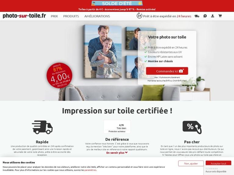 Photo-sur-toile.fr screenshot