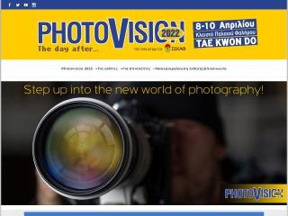 Screenshot για την ιστοσελίδα photovision.gr