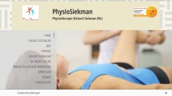 www.physiosiekman.de Vorschau, Physiotherapie Richard Siekman (NL)