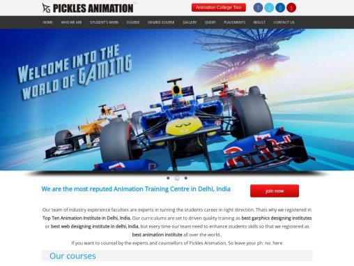 Top 10 Best Animation Institutes in Delhi, Multimedia Institute in Delhi – Picklesanimation.com