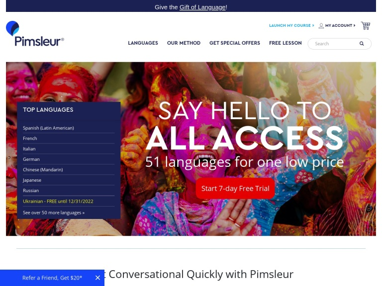 Pimsleur screenshot